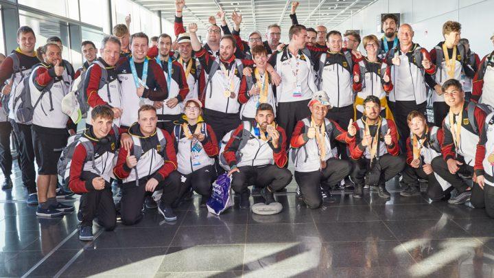 Ankunft der Deutschen Delegation am Flughafen Frankfurt . Foto: LH