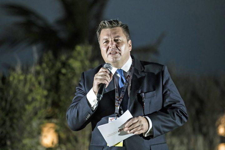 Berlins Innen- und Sportsenator Andreas Geisel bei seiner Ansprache - SOD/Stefan Holtzem