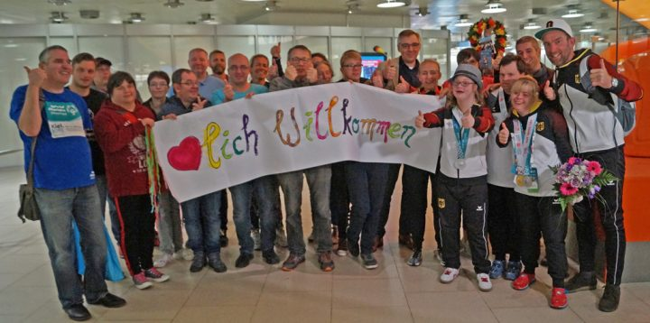Empfang in Hannover für die drei Athleten aus Niedersachsen. Foto: SONDS