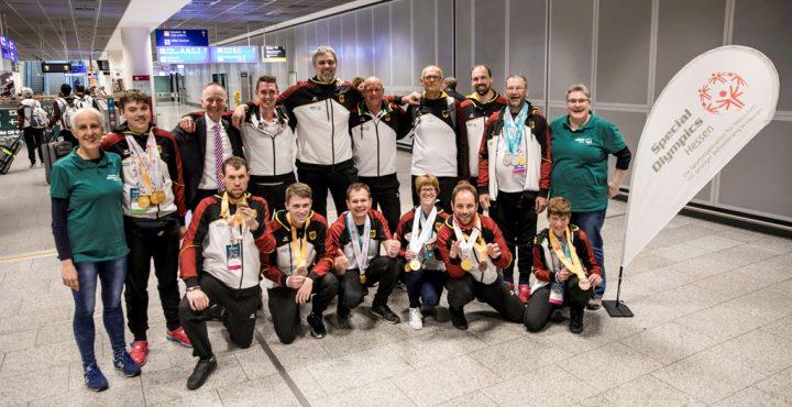 Empfang der Hessischen Athletinnen, Athleten und Unified Partner in Frankfurt. Foto: SOH