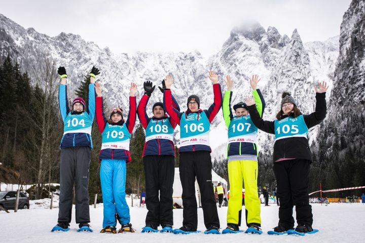 Athleten der Reinhard-Lakomy-Schule in Halberstadt bei den Special Olympics Winterspielen in Berchtesgaden Foto: SOD/ Sarah Rauch
